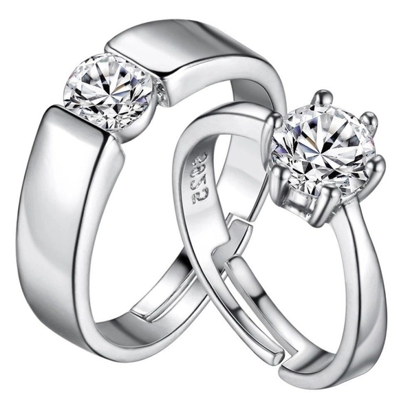 c96cda9969 Jewelry | Men Women Engagement Ring Set Wedding Silver | Poshmark